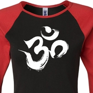 Ladies Yoga Shirt Brushstroke Aum Raglan Tee T-Shirt