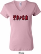 Ladies Yoga Shirt Classic Rock Yoga V-neck Tee T-Shirt