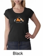Ladies Yoga Shirt Copy Cat Scoop Neck Tee T-Shirt