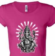 Ladies Yoga Shirt Ganesha Longer Length Tee T-shirt