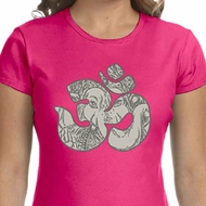 Ladies Yoga Shirt Ganesha OM Crewneck Tee T-Shirt