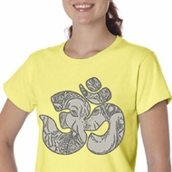 Ladies Yoga Shirt Ganesha OM Organic Tee T-Shirt