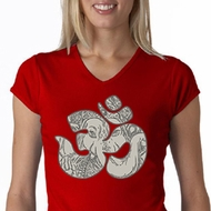 Ladies Yoga Shirt Ganesha OM V-neck Tee T-Shirt