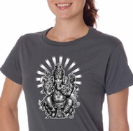 Ladies Yoga Shirt Ganesha Organic Tee T-shirt