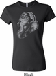 Ladies Yoga Shirt Ganesha Profile Crewneck Tee T-Shirt