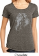 Ladies Yoga Shirt Ganesha Profile Lace Back Tee T-Shirt