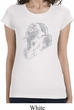 Ladies Yoga Shirt Ganesha Profile Longer Length Tee T-Shirt