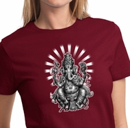 Ladies Yoga Shirt Ganesha Tee T-shirt