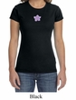 Ladies Yoga Shirt Layered Flower Patch Crewneck Tee T-Shirt