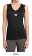 Ladies Yoga Shirt Layered Flower Patch Sleeveless Moisture Wicking Tee