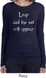 Ladies Yoga Shirt Leap Long Sleeve Tee T-Shirt