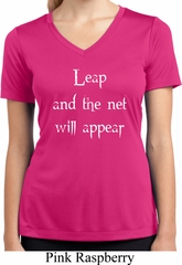 Ladies Yoga Shirt Leap Moisture Wicking V-neck Tee T-Shirt