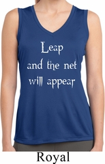 Ladies Yoga Shirt Leap Sleeveless Moisture Wicking Tee T-Shirt