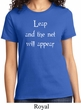 Ladies Yoga Shirt Leap Tee T-Shirt