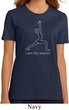 Ladies Yoga Shirt Line Warrior Organic Tee T-Shirt