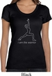 Ladies Yoga Shirt Line Warrior Scoop Neck Tee T-Shirt