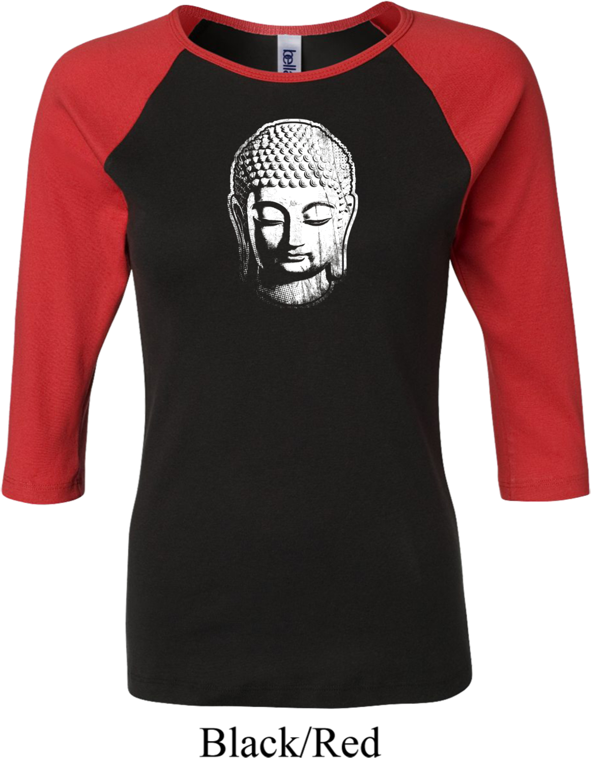 ladies yoga shirt little buddha head raglan tee t shirt. Black Bedroom Furniture Sets. Home Design Ideas