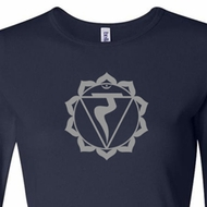 Ladies Yoga Shirt Manipura Chakra Meditation Long Sleeve Shirt