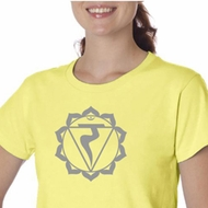 Ladies Yoga Shirt Manipura Chakra Meditation Organic T-shirt