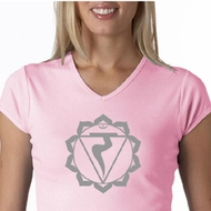 Ladies Yoga Shirt Manipura Chakra Meditation V-neck Shirt