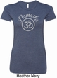 Ladies Yoga Shirt Namaste Om Longer Length Tee T-Shirt