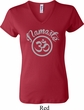 Ladies Yoga Shirt Namaste Om V-neck Tee T-Shirt