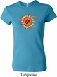 Ladies Yoga Shirt Ohm Sun Crewneck Tee T-Shirt