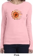 Ladies Yoga Shirt Ohm Sun Long Sleeve Tee T-Shirt