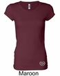 Ladies Yoga Shirt OM Heart Bottom Print Longer Length Tee T-Shirt