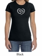 Ladies Yoga Shirt OM Heart Crewneck Tee T-Shirt
