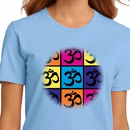 Ladies Yoga Shirt Pop Art Om Organic Tee T-Shirt