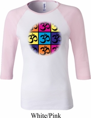 Ladies Yoga Shirt Pop Art Om Raglan Tee T-Shirt