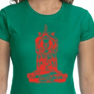 Ladies Yoga Shirt Red Tara Crewneck Tee T-Shirt