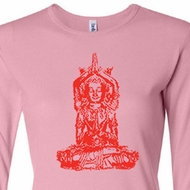 Ladies Yoga Shirt Red Tara Long Sleeve Tee T-Shirt