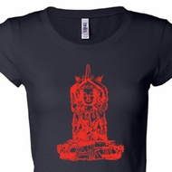 Ladies Yoga Shirt Red Tara Longer Length Tee T-Shirt