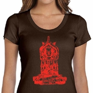 Ladies Yoga Shirt Red Tara Scoop Neck Tee T-Shirt