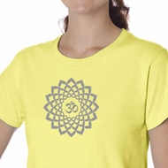 Ladies Yoga Shirt Sahasrara Chakra Meditation Organic T-shirt