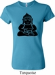 Ladies Yoga Shirt Shadow Buddha Crewneck Tee T-Shirt