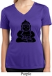 Ladies Yoga Shirt Shadow Buddha Moisture Wicking V-neck Tee T-Shirt