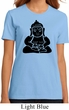 Ladies Yoga Shirt Shadow Buddha Organic Tee T-Shirt