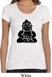 Ladies Yoga Shirt Shadow Buddha Scoop Neck Tee T-Shirt