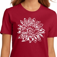 Ladies Yoga Shirt Sketch Lotus Organic Tee T-Shirt