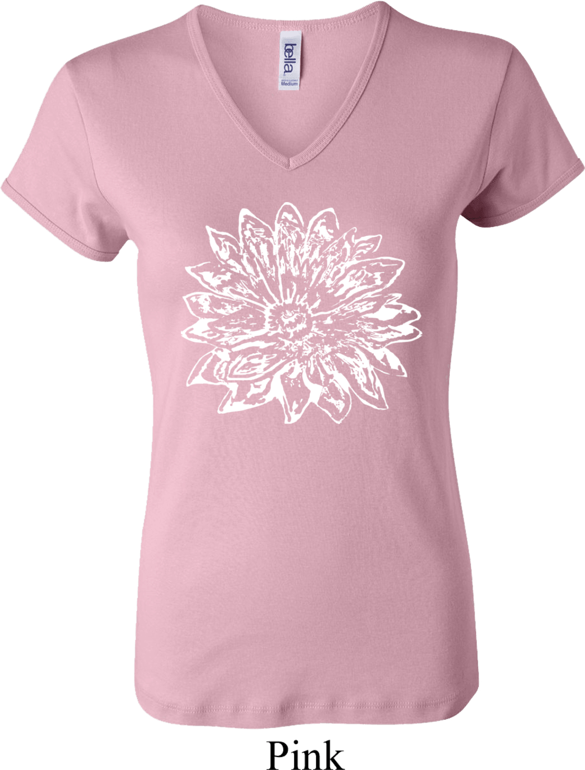 Ladies Yoga Shirt Sketch Lotus V Neck Tee T Shirt Sketch