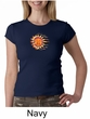Ladies Yoga Shirt Sleeping Sun Meditation Crew Neck Shirt