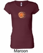 Ladies Yoga Shirt Sleeping Sun Meditation Longer Length Shirt