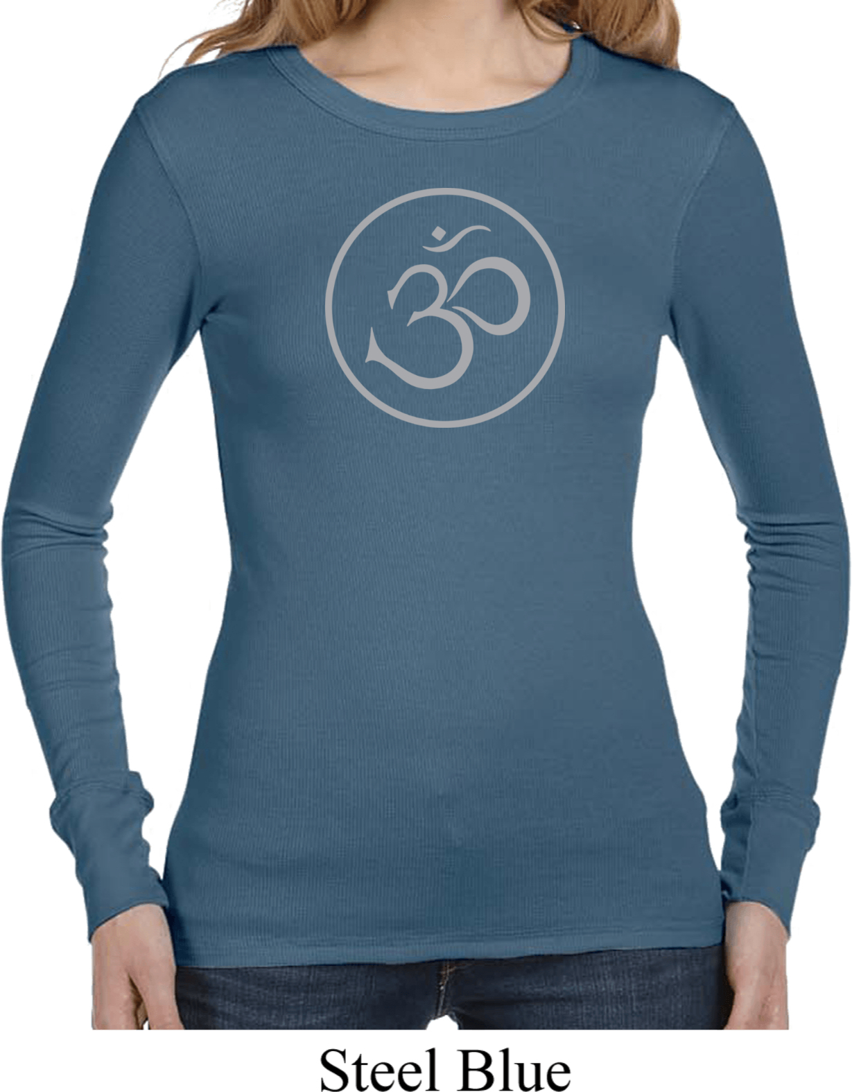 Ladies yoga shirt thin om long sleeve thermal tee t shirt for Thin long sleeve t shirts