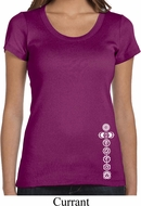 Ladies Yoga Shirt White 7 Chakras Bottom Print Scoop Neck Tee T-Shirt