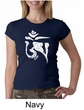 Ladies Yoga Shirt White Tibetan Om Crewneck Tee T-shirt