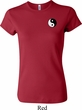 Ladies Yoga Shirt Yin Yang Patch Pocket Print Crewneck Tee T-Shirt