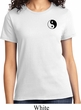 Ladies Yoga Shirt Yin Yang Patch Pocket Print Tee T-Shirt